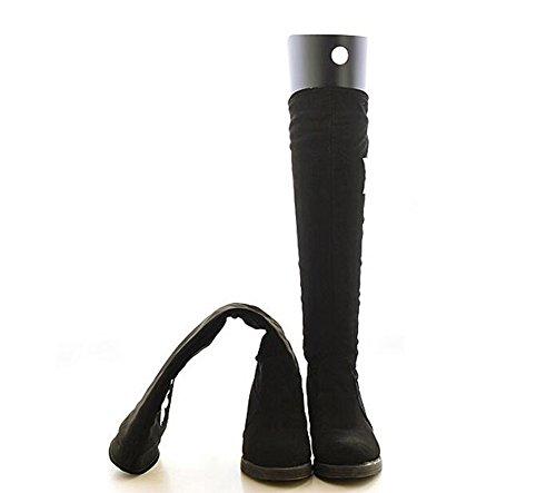 2Pairs Schuhbäume Hohe kurze Stiefel-Former-Baum-Einsätze Knie-hohe Schuhe Schenkel-Stiefel-Halter-Unterstützung für Frauen-Dame die meisten Schuhe Stiefel-Unterstützung Schwarz (35cm)