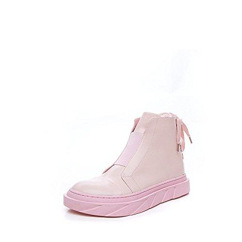 Martin bottes femmes d'automne et d'hiver côté sangle zipper high-top chaussures version coréenne du vent sauvage d'épaisseur des bottes d'étudiants