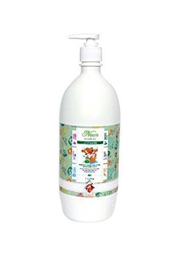 Robust Neem Dog and Cat Shampoo with Aloe Vera, 1 L