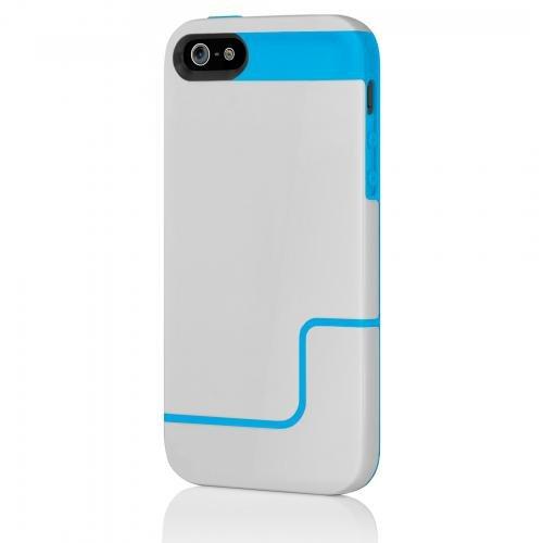 Incipio IPH-834 Edge Pro Hard Case für Apple iPhone 5/5S hellgrau/neonblau Incipio Edge Pro Iphone