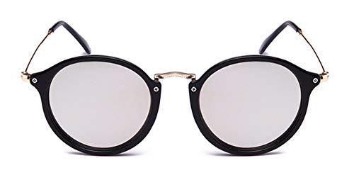 Sonnenbrille Runde Sonnenbrille Sonnenbrille Frauen Männer Schattierungen Schildkröte Frame Sonnenbrillen Streuscheibe Weiß