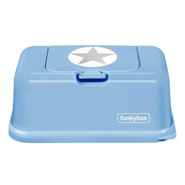 Funkybox Feuchttücher Box hellblau - Stern