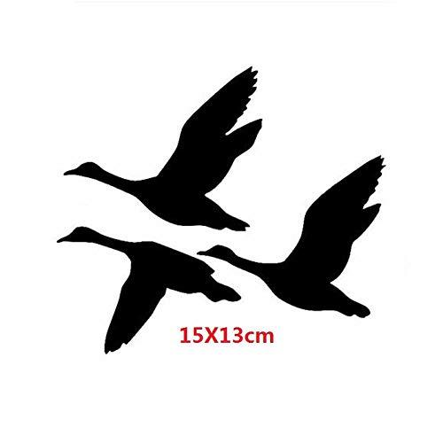 Wandaufkleber Enten Fliegen Wandaufkleber Abziehbilder Kreative Dekorative Vogeljagd Wasservögel Motorrad Auto Aufkleber 15 X 13 Cm -