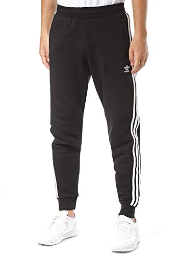 adidas Herren 3-Stripes Pant Sport Trousers, Black, L - Ocean Fleece-stoff