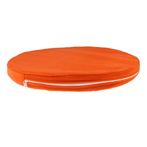 B Blesiya Sitzkissen rund 25mm Stuhl Polster Kissen Schlafcouch Wurfkissen - Orange, 380mm * 25mm -
