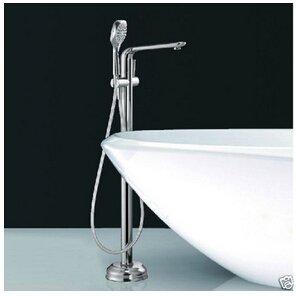 Galvanik Retro Wasserhahn Groß- und Einzelhandel Boden Mouted frei stehende Badewanne Armatur Mixer mit Handdusche Chrom Finihshed, tippen Sie aufLöschen