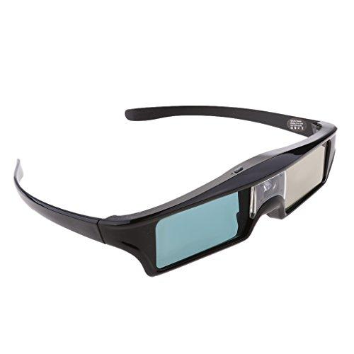 Gazechimp 2 Stücke Wiederaufladbar DLP-Link 3D Active-Shutter Brille 144Hz Blendengläser für Optoma / BenQ TV