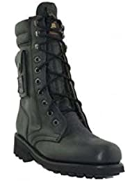 Loblan 2024 Negro Motorista Botas Combat Military Lace Up Handmade Botas Side Pocket
