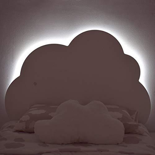 Bainba Cabecero Infantil Nube con Luz, para colchones de 90