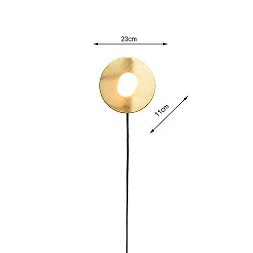 GBX Schöne und großzügige Wandleuchte Gelb Led Wandleuchte Glühbirne Wandleuchten Metall Wandleuchte Transluzent Runde Glas Lampenschirm für Indoor Restaurant Schlafzimmer Kinder 'S Zimmer Nachttisch