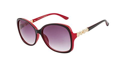 Clark N Palmer Grey Gradient Oversized Women Sunglasses - (CNP-D1540-S21)