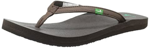 Sanuk Women's Yoga Joy Flip Flop,Brown,7 M US