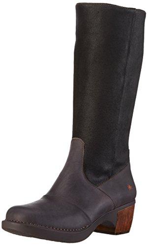 artZUNDERT - Stivali alti con imbottitura leggera Donna , Nero (Nero (nero)), 39