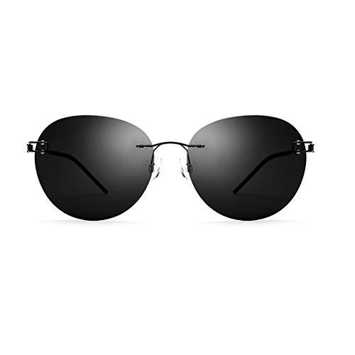 Yiph-Sunglass Sonnenbrillen Mode Persönlichkeit runde Form Männer polarisierte Sonnenbrille TR90 TAC Objektiv UV-Schutz Sonnenbrille für das Fahren Baseball Laufen. (Farbe : Gold)