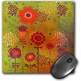 Dooni Designs Floral and Nature Designs - Modern Boho Chic Colorful Flowers and Blossoms Nature Vector Design - MousePad (mp_116515_1)