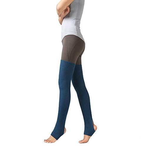 TUDUZ Damen Oberschenkel gestrickte Beinlinge Yoga Socken Stiefelabdeckung Leggings Slouch Boot Socken