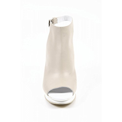 Hogan Donna Di Alta Sandali Tacco in Pelle - Tacco: 10.5 cm - HXW2470Q9407Y8M024 Taupe