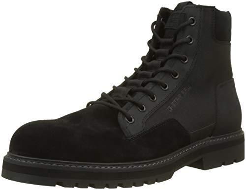 G-STAR RAW Powel Boot, Botas Clasicas para Hombre, Negro Black 990, 46 EU