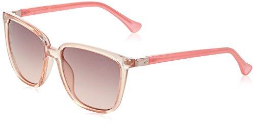 Calvin klein eye, occhiali da sole donna, rosa, 57