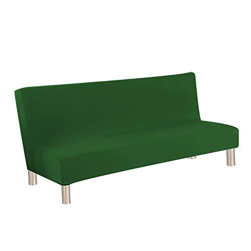 Kentop - Copridivano Senza braccioli, Elasticizzato, Tinta Unita Verde Scuro