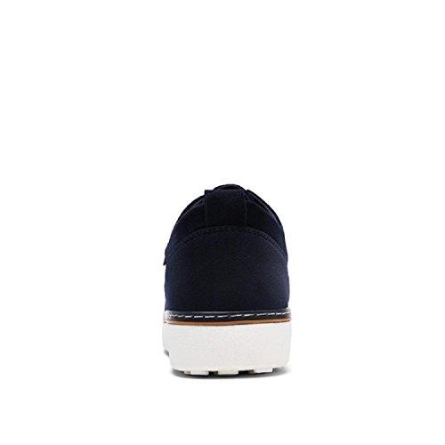 Uomo Moda Ballerine traspirante Scarpe da corsa formatori Leggero Scarpe sportive Taglia larga Scarpe di tela euro DIMENSIONE 39-46 blue
