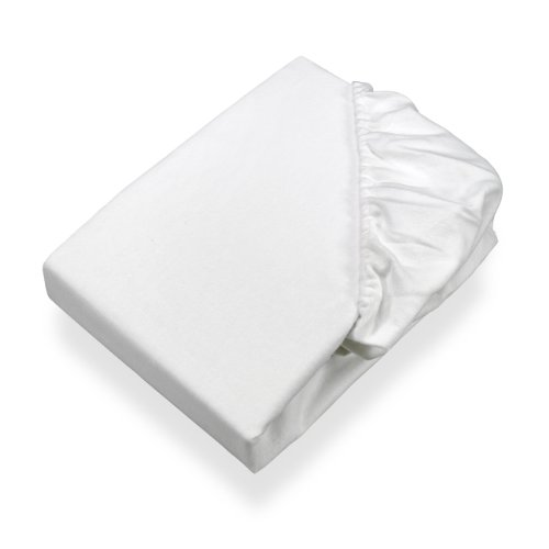 SETEX Molton Köper Matratzenschutz, Spannbetttuch, 140 x 200 cm, 100 % Baumwolle, Basic, Weiß, 1308140200404002 (Auf Einem Spannbetttuch)