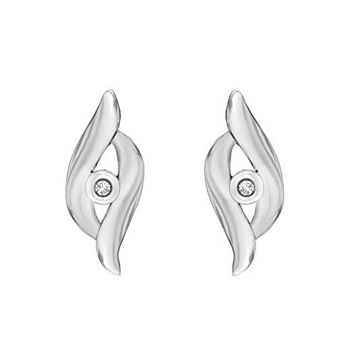 Tuscany Silver Ohrstecker Rhodiniert Sterling Silber Überlappend Diamant Preisvergleich