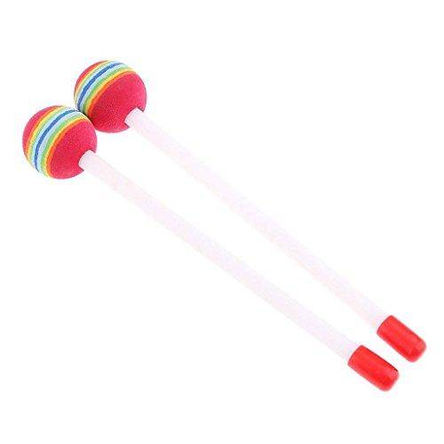 Aofocy Drumstick Mallet Round Lollipop Sticks Perkussionshandtrommelstöcke für Kinder Pädagogische Kinderspielzeug für Kinder 1 Paar