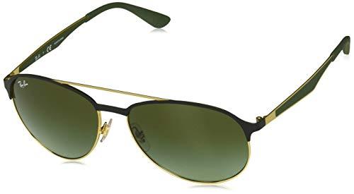 Ray-Ban MOD. 3606 Sonnenbrille Mod. 3606 Aviator Sonnenbrille 59, Schwarz - Schwarze Aviator Ban Sonnenbrille Ray