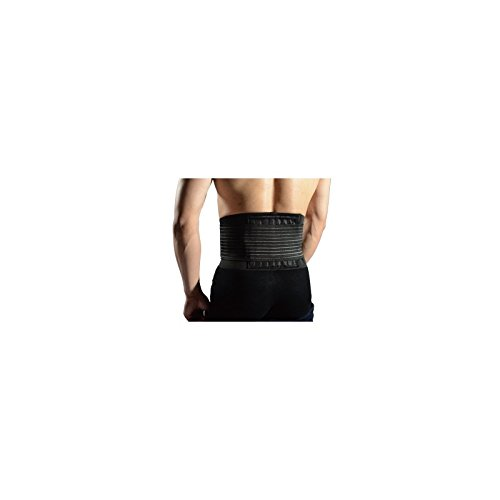 LiveUp Sport, Busto di sostegno lombare con stecche flessibili, onesize, black colour