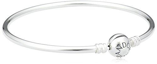 Pandora 590713-21 Damen-Armreif 925 Sterling Silber 21 cm, Durchmesser 7 cm (Armreif Pandora 925)