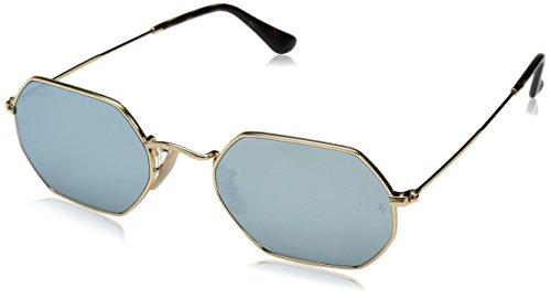RAYBAN JUNIOR Unisex-Erwachsene Sonnenbrille Octagonal Flat Lenses Gold/Greyflash 53