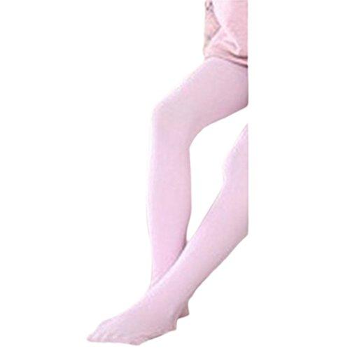 Girls Kids Legging Tights Candy Color Pantyhose Stockings Soft Children Velvet Ballet Dance Socks(3-5 years old,pink)