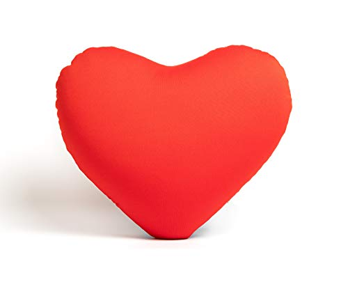 Red Fox Trading Company Überwurf, klein, Herzform, romantisch, Mikroperlen, weich und quetschig, für Reisen nach Operationen 11X9X4 rot (Trading Stores Company)