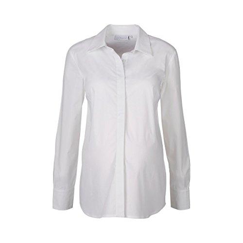 Jersey Langarm-bluse (2HEARTS Umstands- und Still-Bluse Langarm Easy Business - Klassische & elastische Umstandsbluse mit verdeckter Knopfleiste - ideal zum Stillen)