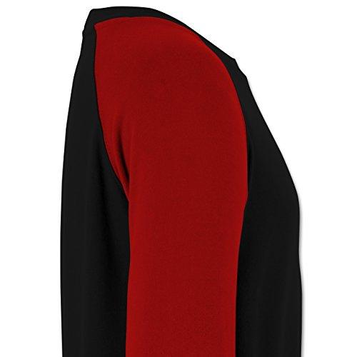Statement Shirts - Fun in the sun - Herren Baseball Pullover Schwarz/Rot
