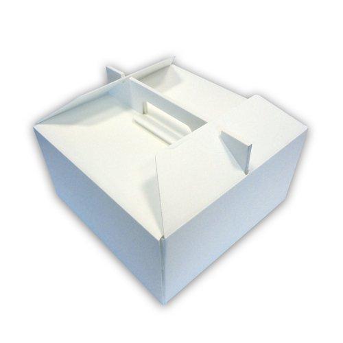 PZ 10 SCATOLA TERMICA CM 27 X 27 ALTA CM 14 PER ASPORTO DI TORTE GELATO E DOLCI IN POLISTIROLO COMPONIBILE CAKE BOX CASSA TERMICA