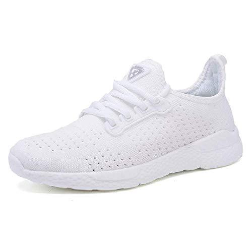 GERPY Zapatos Mujer Calientes Zapatillas Deporte Blancas