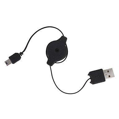 QAZSE Retractable USB auf Mini-USB-Datenkabel (0,75 M) - Mini Retractable Sync