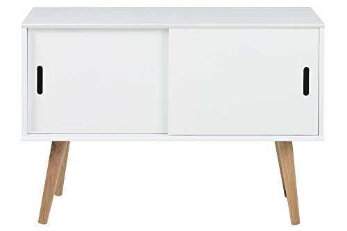 AC Design Furniture 60602 Mariela - Aparador 2 puertas, 100 x 38 x 69,5 cm, madera, color blanco