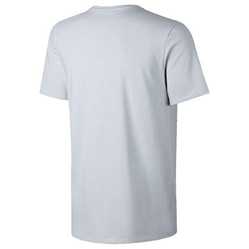 NIKE M NSW Thé S + 2–T-shirt pour homme, couleur plateado (pure platinum / pure platinum)
