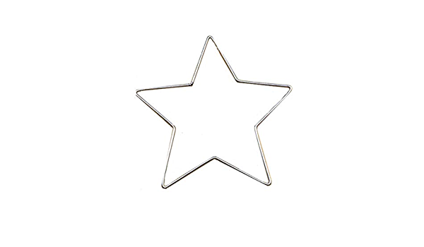 50mmFive-Pointed Star Metal Hoop Five-Pointed Star Hoop Decorations Supplies Love Heart DIY Parts Metal Craft Welded