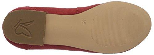 Caprice 22102 Damen Geschlossene Ballerinas Rot (RED SUEDE/550)