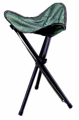 Cormoran Dreibeinhocker faltbar dunkelgrün