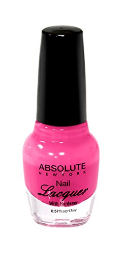 Absolue New York Vernis à Ongles – Rose fluo, 1 pièce