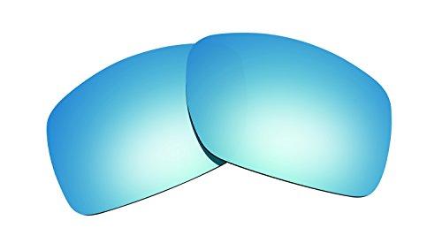 Littlebird4 polarisierte Ersatzgläser für Oakley Big Taco Sonnenbrillen, 1,5 mm, Verschiedene Optionen, Herren, Ice Blue Mirror