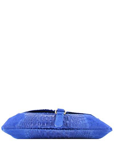 histoireDaccessoires - Lederumhängetasche für Damen - SA098623GR-Santo Blau