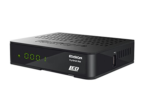Edision Progressiv Hybrid lite LED DVB-C Kabelreceiver für digitales Kabel-Fernsehen (Full HD, HDMI, SCART, S/PDIF, USB, Internet, Display, WiFi optional) schwarz