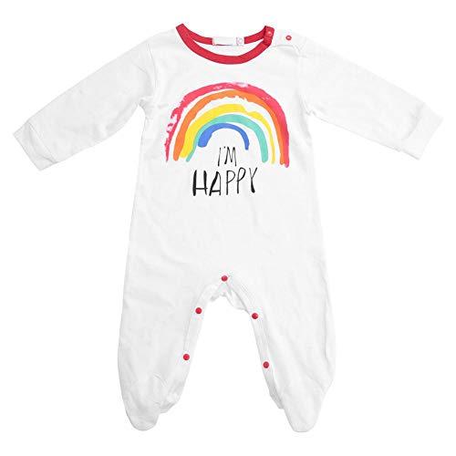 Regenbogen-Muster-Buchstaben, die Baby-Overall-Fotografie-Requisiten für das Wandern, Partei, kampierende Baby-Jungen-Kleidung drucken(70cm) ()