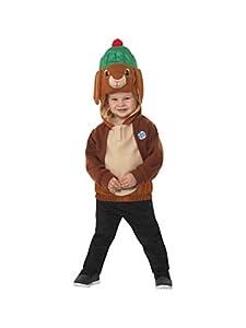 Smiffys 48734S Disfraz oficial de Peter Rabbit, Benjamin Bunny Deluxe, niños